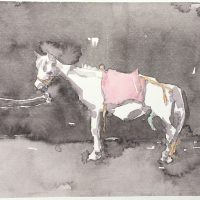 马力-Ma-Li-(马No.2-Horse-No.2)纸本水彩-Watercolour-on-Paper13.5x-10cm-2014